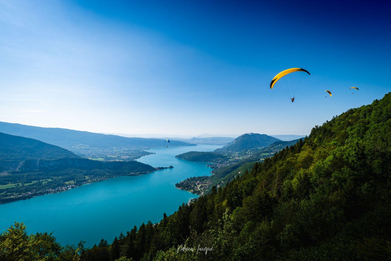 Lac d'Annecy depuis le col de la Forclaz
