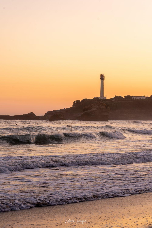 Lever de Soleil sur la grande plage de Biarritz