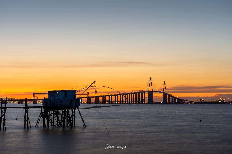 Coucher de Soleil sur le Pont de Saint-Nazaire